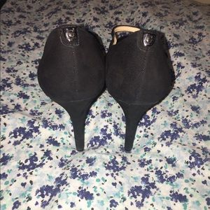 G by Guess velvet black heels